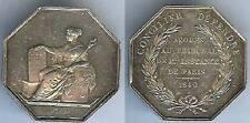 Jeton - PARIS 1849 avoués au tribunal de 1ère instance Argent main 20 grs d=34,4