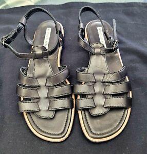 Manolo Blahnik Black Sandals 37.5 new