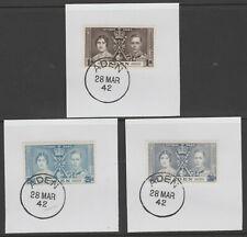 909366  ADEN  1937 CORONATION set with MADAME JOSEPH FORGED POSTMARKS