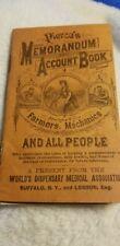 Pierce's Memorandum And Account Book For Farmers Mechanics All People Early 1900