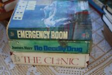 Super,RARE Signed James Kerr Books, The Clinic, No Deadly Drug, Emergency Room