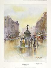 "Douglas west ""piccadilly circus"" london eros sgd ltd ed taille: 47cm x 36cm neuf"