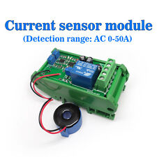 (US) Current Detect Sensor AC 0-50A Full Range Linear Adjustable Relay Output b