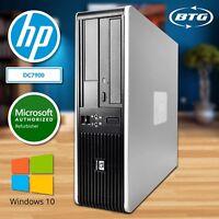Fast HP Desktop Computer 8GB RAM 1TB HD PC Genuine Windows 10 Pro WiFi DVD USB