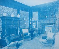 1896 Bedford Lemere & Co Cyanotype Intérieurs Anglais British Interiors Plate 42
