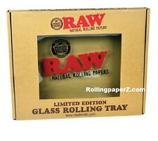 """Raw® Rolling papers - Limited Edition - GLASS ROLLING TRAY 13"""" X 11"""" RAWthentic"""