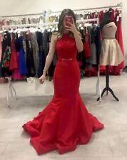 Uk Size 6 Red Sherri Hill 2 Piece Prom Dress