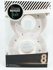 "Heidi Swapp Marquee Love Light Kit 12"" Number 8"