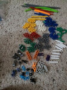 K'nex Replcement Parts Bulk Lot of 100 rods and parts exactly  what you see
