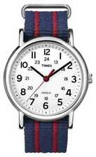 Relojes de pulsera fecha Timex tela/cuero