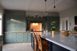 Bespoke Solid Wood Country Kitchen Cabinet Units Fully Beaded Style