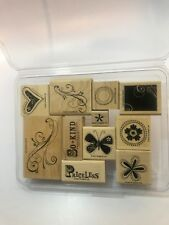 STAMPIN' UP! Priceless Mounted Wood Rubber Stamps Complete Set of 11