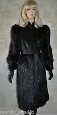 GORGEOUS VINTAGETED LAPIDUS GENUINE BEAVER FUR COAT, Black Color, Long