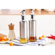 300ML Stainless Steel Leak proof Oil Dispenser Bottle Oil Vinegar Sauce H069HC