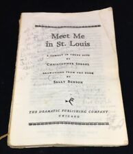 Vintage Play Script ~ Meet Me in St. Louis - 1976 Autographed by cast OOAK