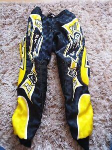 """Wulfsport Kids motocross trousers, size 26"""" waist."""