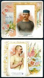 (2) 1889 N43 Allen and Ginter Tobacco Cards Skater Pedestrian