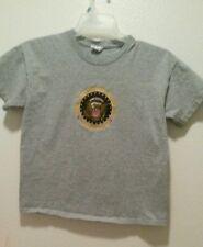 UNITED STATES OF AMERICA WASHINGTON DC Gray T shirt Youth XL EUC embroidered