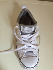 Converse All Star Low Top de cuero zapatillas zapatos niñas Para mujeres De Uk Size 4 White