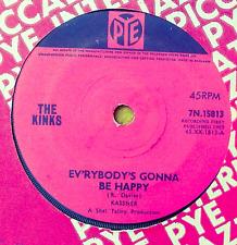 "The Kinks "" EVERYBODY'S Gonna Be Happy "" Rare Original UK 17.8cm"