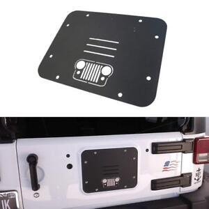 For 2007-2017 Jeep Wrangler JK JKU Spare Tire Carrier Delete Filler Plate Black