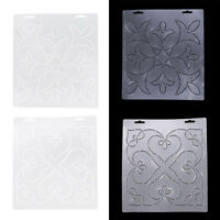 2pcs Semi-transparent Quilting Stencil Templates for Sewing Stitch Craft DIY