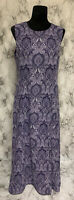 Pendleton Size 8 Purple Paisley Sleeveless Long Sheath Dress