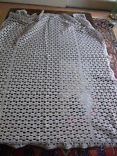 DESSUS DE LIT BEBE berceau Coton au crochet Vintage baby's crocheted blanket
