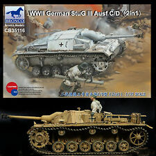 BRONCO MODELS 1/35 WWII GERMAN STUG III AUSF C/D 75MM L24 OR L48 BARREL OPTION