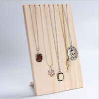 Wooden Jewelry Display Hanging Rack Stand Pendant Necklace Organizer Holder