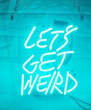 New Let's Get Weird Bar Beer Pub Acrylic Neon Light Sign 14""