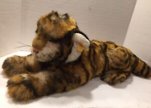 """Large Steiff - RADJAH Plush TIGER With Button & Tags 24"""" with Tail"""