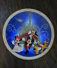 RARE Walt Disney World Illuminated Light Up Plate Happiest Celebration on Earth