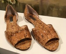 New Women's INC International Concepts, Flats, Size 6.5, Brown, Wood-like Look