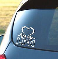 LPN Heartbeat - Vinyl Car Window Decal Cardiac Love, Nurse, Doctor, RN, EMT
