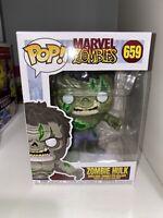 Funko Pop! Zombie Hulk #659 Marvel + Pop Protector