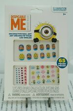 DESPICABLE ME NAIL ART~65 PIECES NEW IN FACTORY SEALED PACKAGE~FREE SHIP US~
