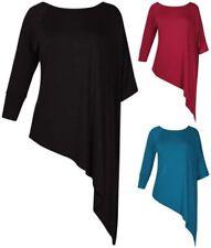 Maglie e camicie da donna maniche a pipistrello casual asimmetrici
