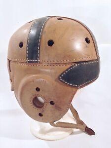 Vintage Antique 1930's Wilson D254 Leather Football Helmet Old & Nice