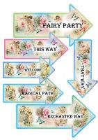 12 Fairy Party Arrows Decorations-Fairy Party Enchanted Magic Birthday