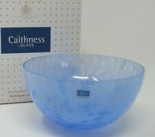 Whispers Azure Medium Bowl Caithness Glass Scotland (5053) Boxed