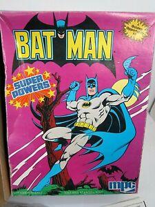 VINTAGE 1984 DC COMICS SUPER POWERS BATMAN SCALE MODEL KIT MPC COMPLETE