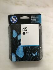 HP 45 Black Ink 51645A New Genuine ***** SHIPS OVERBOXED ***** Date: 4/2020