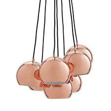 MID CENTURY DANISH MODERN 7 COPPER BALL MULTI PENDANT LAMP FRANDSEN DESIGN NEW