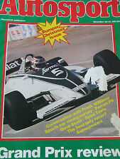 AUTOSPORT MAGAZINE DEC 1981 FRANK WILLIAMS FERRARI P4 DAVE SCOTT LADY RACER GP