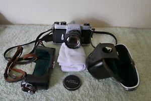 Asahi Pentax spotmatic SP Cased 35mm Camera and lens SLR Used