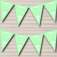 Cross Holy Communion Blue And Green Christening Baptism Bunting Party Banner