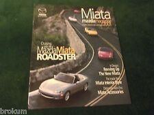 "NEW MINT 2001 MAZDA MIATA MAGAZINE SALES BROCHURE ORIGINAL 9"" X 11""  ( BOX 332)"