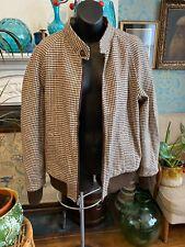 Vintage  Men's Fully Reversible Wool Tweed / Gaberdine Jacket Dhobi Convertible