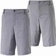 "Mid 7 to 13"" Inseam Flat Front Shorts for Men Check"